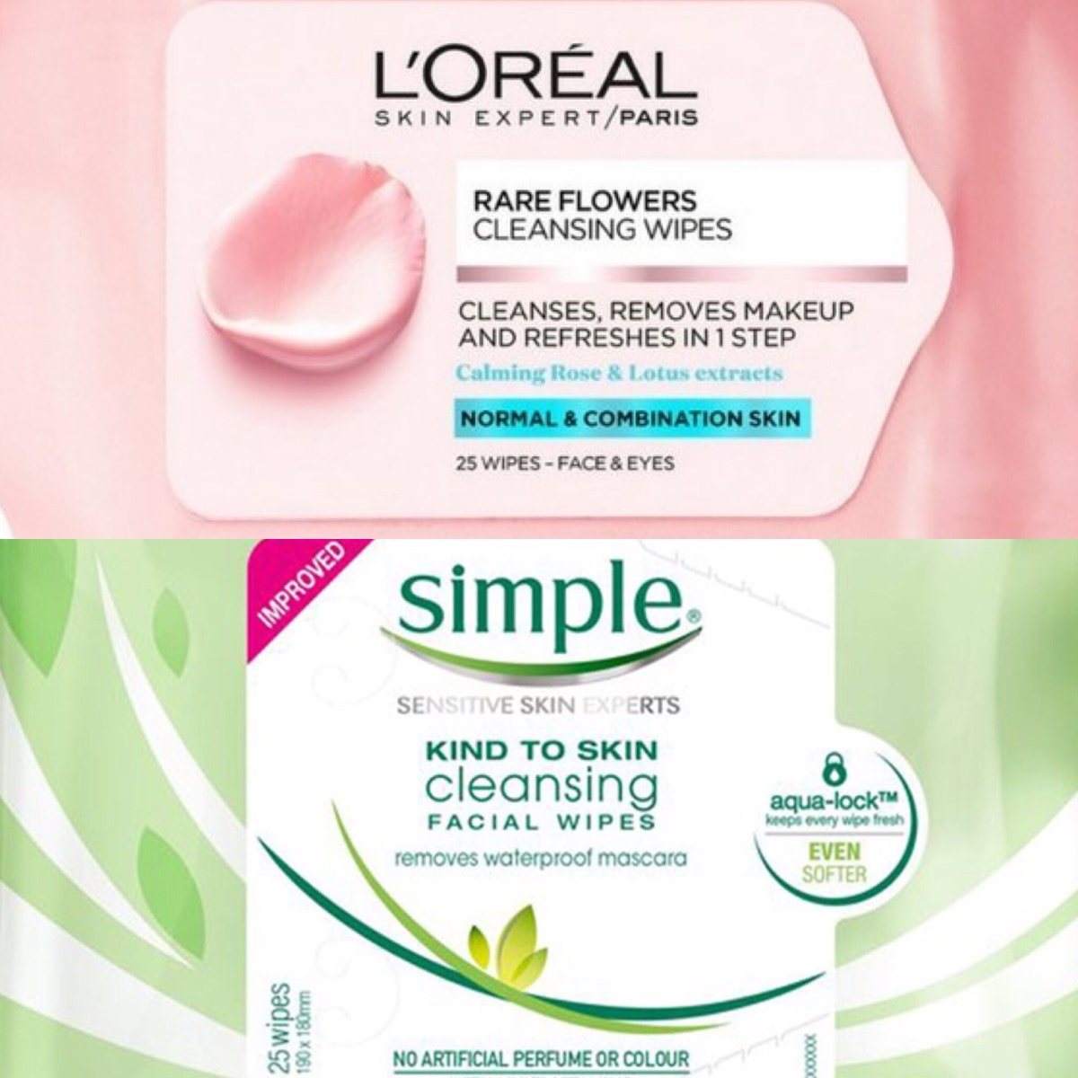 What facial cleansing wipes I use to remove makeup